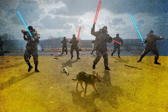 Украинские пограничники: Ополчение ДНР вооружено световыми мечам