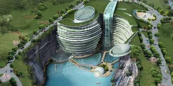 Заброшенный каменный карьер в Китае превратили в отель. 397873.jpeg