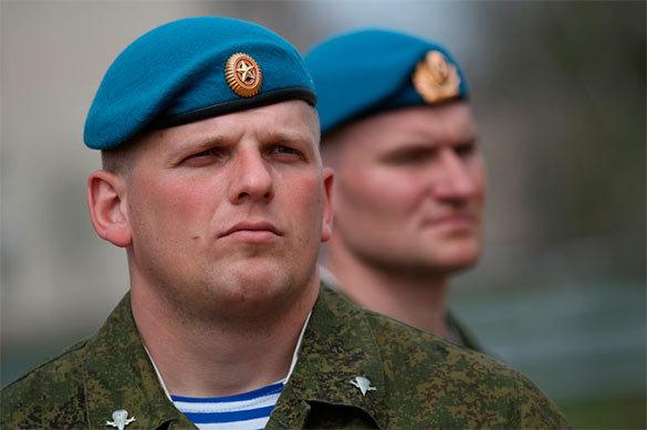 В Бурятии прошли учения ВДВ. десант, солдаты, вдв, голубые береты, военные учения