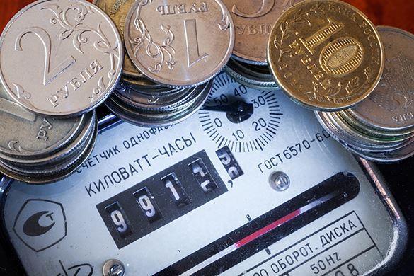 электросчетчик и рубли