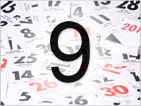 Листок календаря, 9