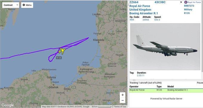Самолет-шпион НАТО у границ России вычислили по смартфону