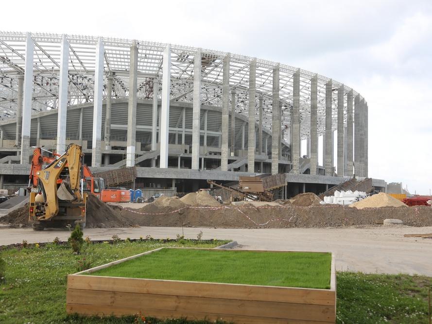 Специалисты приступили к посеву натурального газона на «Стадионе Нижний Новгород». Специалисты приступили к посеву натурального газона на «Стадионе