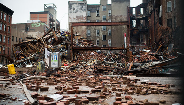 Пожар на Манхеттене: есть пострадавшие и пропавшие без вести. Манхеттен