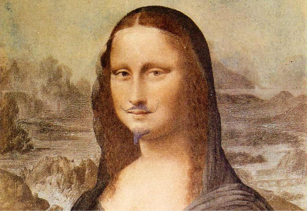 """""""Мону Лизу"""" с подрисованными усами и бородой продали за 743 тысячи долларов. Мону Лизу с подрисованными усами и бородой продали за 743 тыся"""