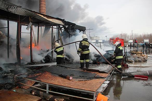 Газопровод горит в Калужской области