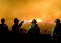 Склад с фейерверками вспыхнул в Дании. fire