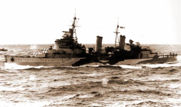 Перед российским воздушным хищником американец оказался олененком. крейсер Эдинбург