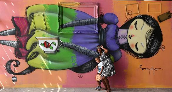 В Бразилии открылась Graffiti Fine Art Biennial. Биеннале открылась в Сан-Паулу