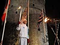 Олимпийский факел прибыл в Салоники