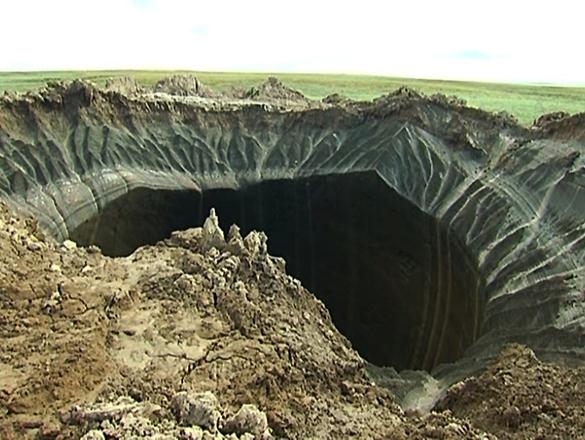 Север России испещрят огромные кратеры?. Север России испещрят огромные кратеры?