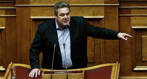 Италия и Испания готовы покинуть ЕС вслед за Грецией - министр обороны Греции. Министр обороны Греции Панос Камменос