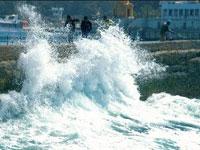 Ураган остановил работу порта в Клайпеде