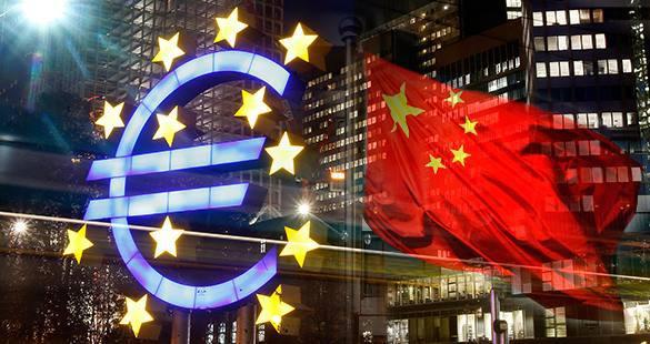 Начало сотрудничества Европы с Китаем - удар по Америке. Флаги ЕС и Китая