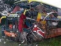 В Аргентине на большой скорости столкнулись два автобуса