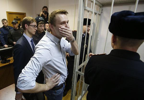 """Алексея Навального могут посадить на 10 лет по делу """"Ив Роше"""". Алексей Навальный в суде"""