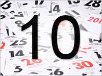 Листок календаря, 10