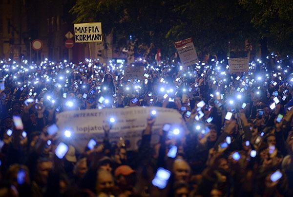 В Будапеште разгорается Майдан. Венгрия стоит на пороге Майдана