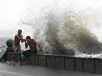 В Китае разбушевался мощный тайфун