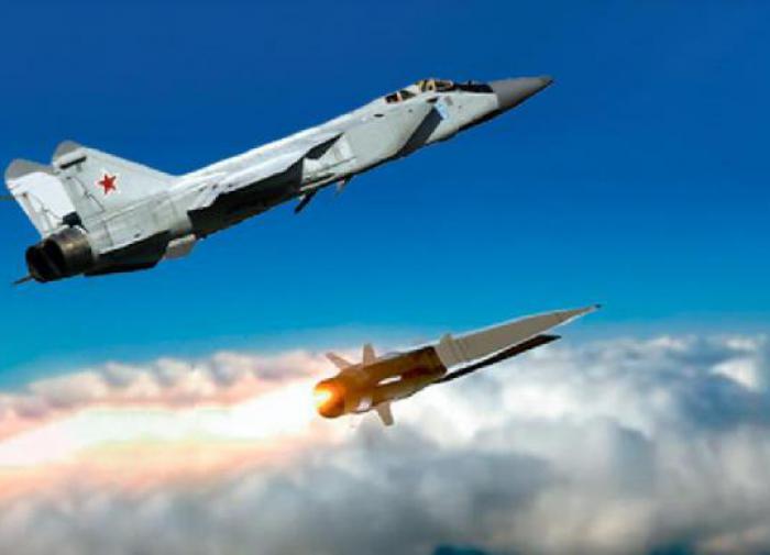 МиГ-31 запускает гиперзвуковое оружие
