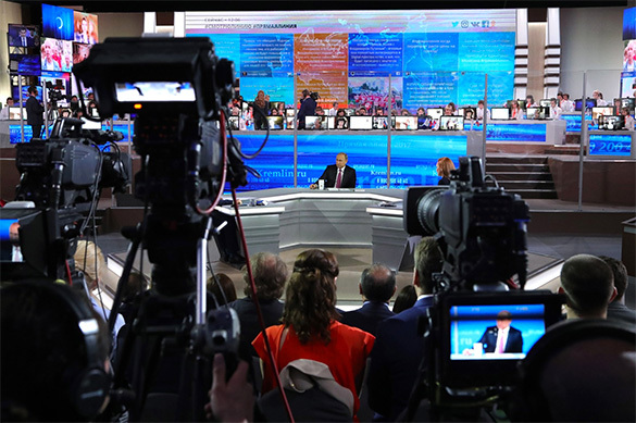 Путин за3 часа 56 мин. прямой линии ответил на73 вопроса