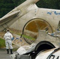 В Гондурасе сгорел самолет с тонной кокаина