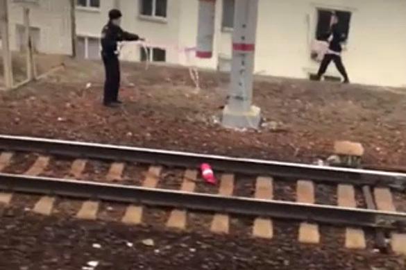 Очевидцы сняли огнетушитель, парализовавший работу Курского вокз