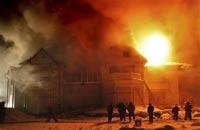 В Оренбургской области сгорела школа