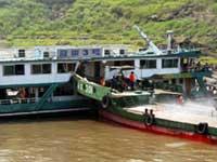 В Нидерландах на реке столкнулись три судна