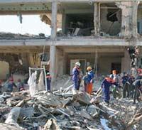 В центре Праги рухнуло здание
