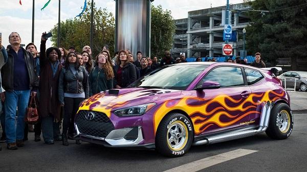 Машины для супергероев из вселенной Marvel. Hyundai Veloster