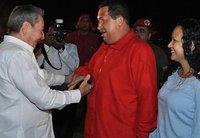 Фидель Кастро и Уго Чавес посмотрели матч Венесуэла-Чили. chavez