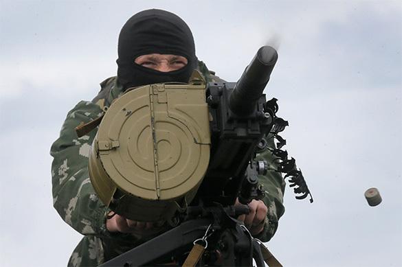 Террористы атаковали воинскую часть в Донецке