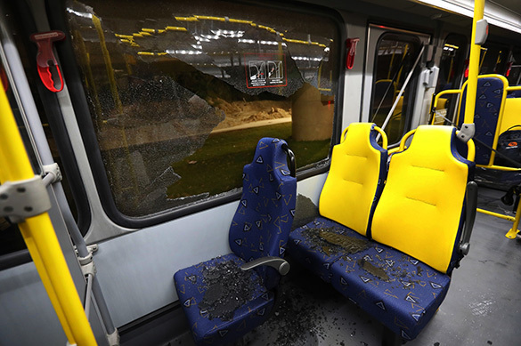 В Рио совершено нападение на автобус с журналистами