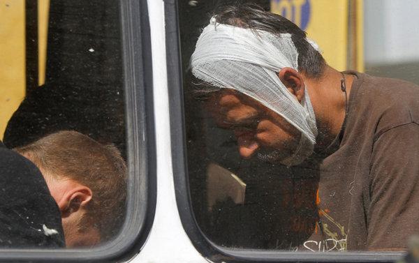 пленные в автобусе на Украине