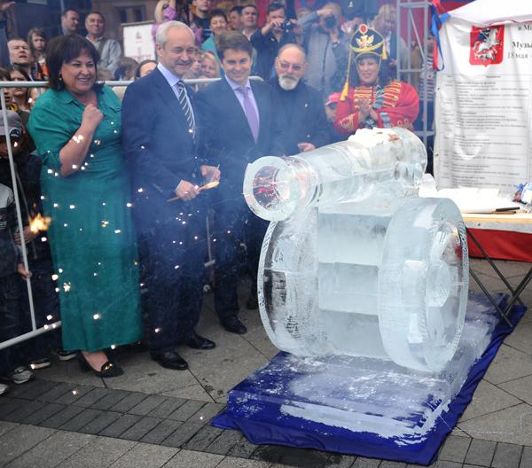 Ледяная пушка с мороженым