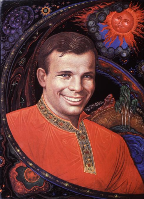 О первом космонавте от палехских художников