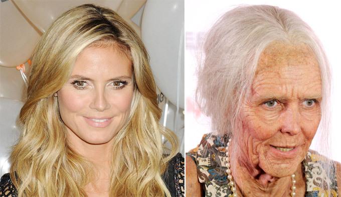 Хайди Клум превратилась в древнюю старушку