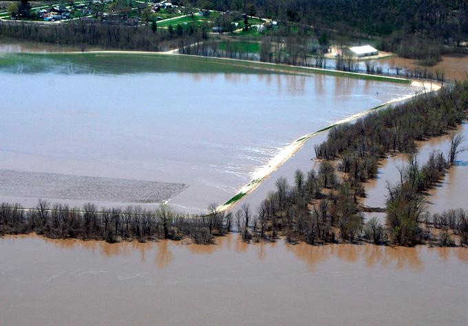 Масштабное наводнение на Среднем Западе США
