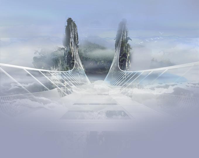 Архитектурные фантазии. Стеклянный мост