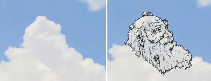 На что похожи облака