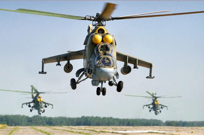 Транспортно-боевой вертолет Ми-24