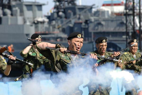 В России отмечают День морской пехоты