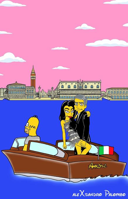 После свадьбы Джордж Клуни стал одним из Симпсонов
