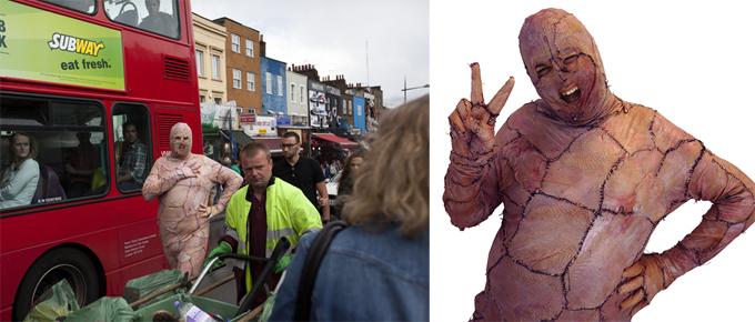 Прикольные чудаки: костюм из куриной кожи