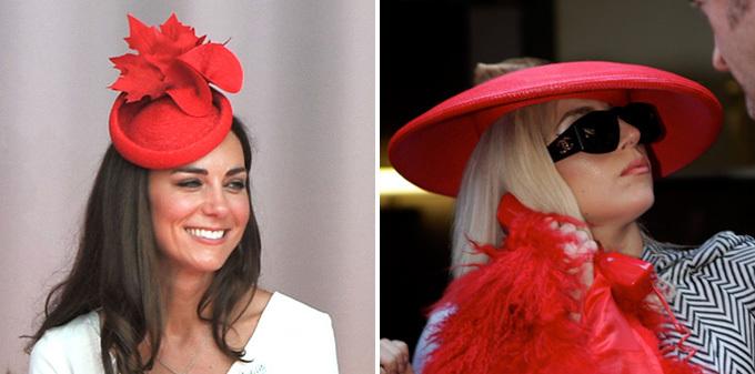 Шляпы Кейт Миддлтон против шляпок Леди Гаги