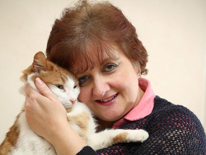 Кот вернулся к хозяйке через 8 лет