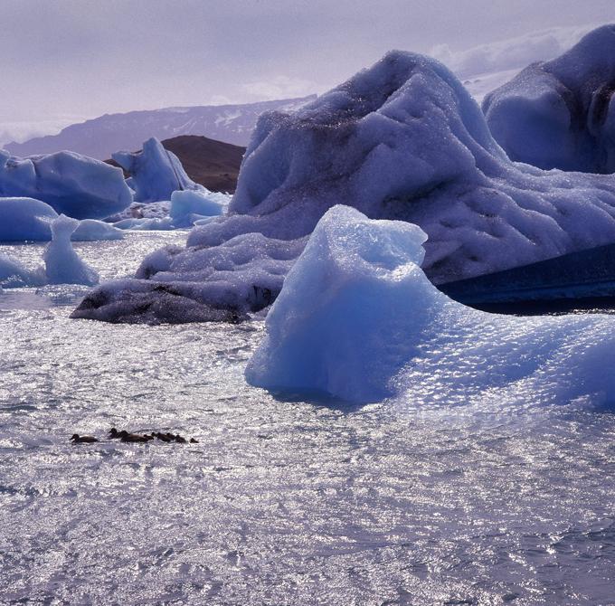 Голубые ледники Исландии