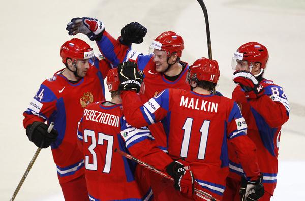 Российские хоккеисты разгромили Швецию на чемпионате мира