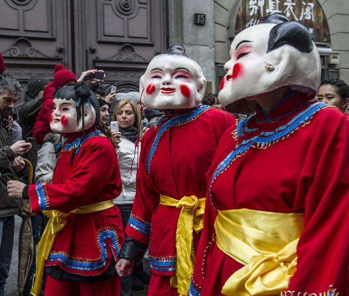 Празднование Китайского Нового года в Милане